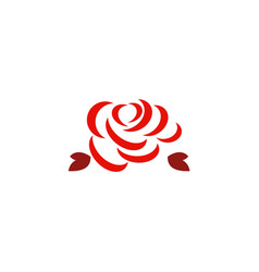Red rose abstract logo vector