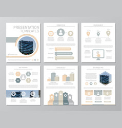 set of gray and yellow elements for multipurpose vector image vector image