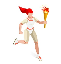 Torchbearer 2016 Sports Isometric 3D vector image