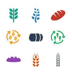 9 barley icons vector