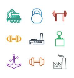 9 heavy icons vector