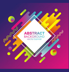 Abstract template design with geometric simple vector