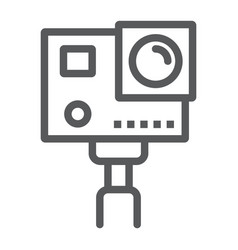 Action camera line icon electronic and digital vector