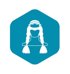 american indian icon simple style vector image