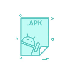 apk application download file files format icon vector image