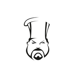 Asian chef cook outline vector