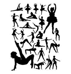 ballerina detail silhouette vector image