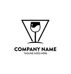 Bar beverage logo template vector