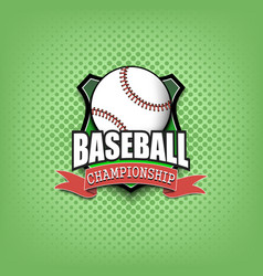 baseball logo template design vector image