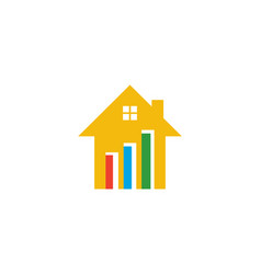 Chart house logo vector