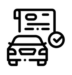Checked documents for car icon outline vector