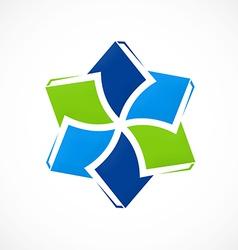 circular book education ebook logo vector image