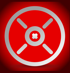 Cross hair reticle target mark icon vector