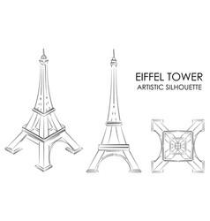 Eiffel tower artistic silhouette vector