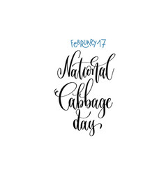 February - national cabbage day - hand vector