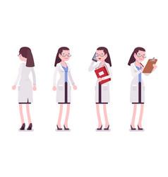 female scientist standing vector image