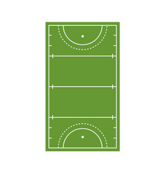 Field hockey arena icon flat style vector