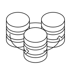 Figure database hosting icon image design vector