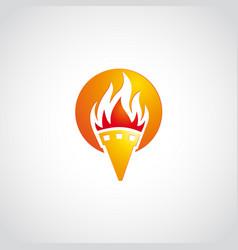Fire logo sun empty vector