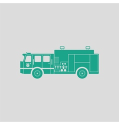 Fire service truck icon vector