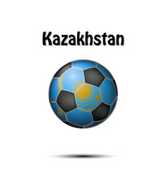 flag of kazakhstan in the form of a soccer ball vector image