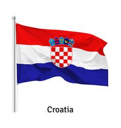 Flag republic croatia vector