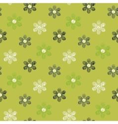Floral scribble pattern vector