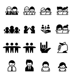 Friend friendship icons vector