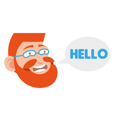 friendly hipster face vector image
