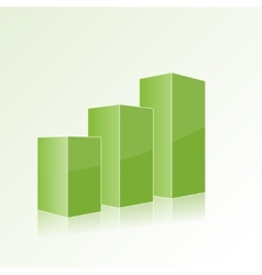 Green step by step chart with positive growth vector image