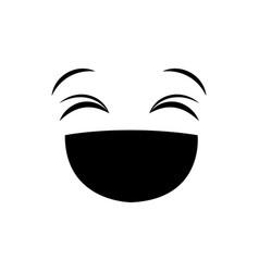 happy face icon vector image