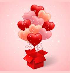 happy valentines day background balloon in form vector image