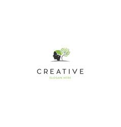 Head mind tree growth creative business logo vector