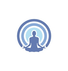 Health yoga logo vector