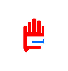 high five hand logo template design vector image