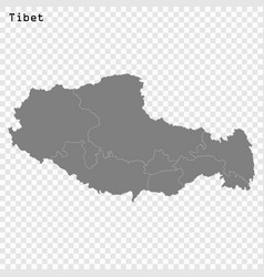 High quality map province china vector