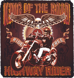 highway rider king of the road vector image