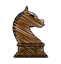 horse chess piece vector image