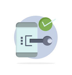 Key lock mobile open phone security abstract vector