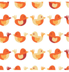kids design cute bird seamless pattern vector image