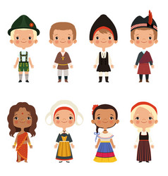 Kids of different nationalities vector