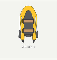 line flat plain underwater diver equipment vector image