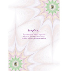 Page border design template background vector image