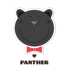 Panther sticker vector