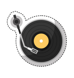 Player lp isolated icon vector