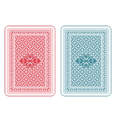 Playing cards back delta vector image