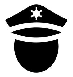 Police head - icon vector