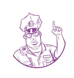 police index finger up vector image