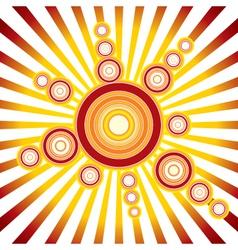 retro sun background vector image
