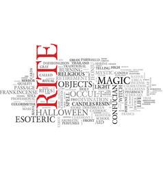 Rite word cloud concept vector